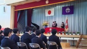 笹塚中学校卒業式
